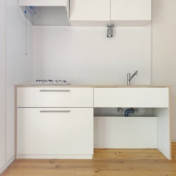キッチンは白いオリジナルのものを◎