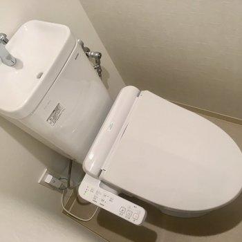 トイレはウォシュレット付きですよ〜