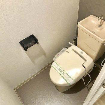 温水洗浄便器ですよ〜。