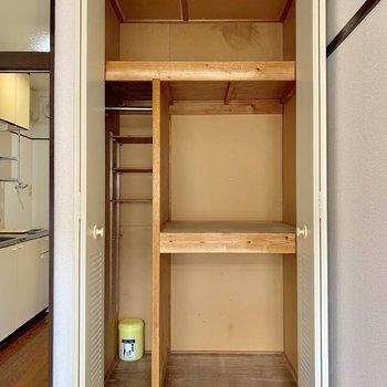 大容量の収納スペース※写真は2階同間取り別部屋のものです
