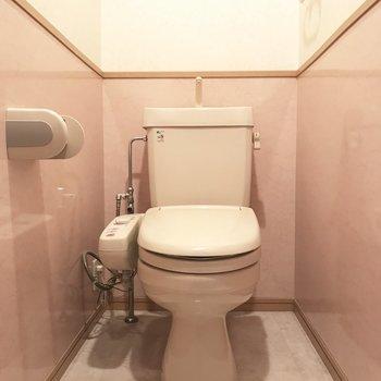 デザインのかわいいトイレです♪※写真は4階の同間取り別部屋、清掃前のものです