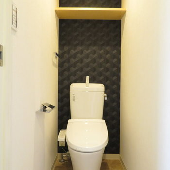 トイレは落ち着いた空間に