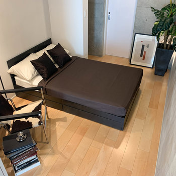 【BD】奥のスペースです。セミダブルのベッドがどーんと置けちゃいます。