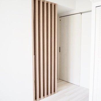 木材でナチュラルに隠れています※写真は2階反転間取り別部屋のものです