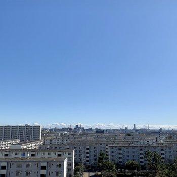 眺望は青空で気持ちいい