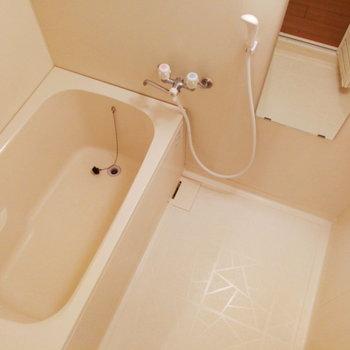 お風呂も良い広さ。ゆったりできそう。