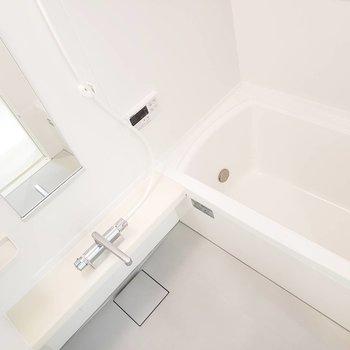 洗い場も浴槽も文句なしの広さです。