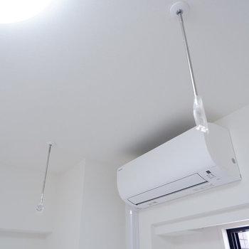 室内干しも可能です。※写真は4階同間取り別部屋のものです