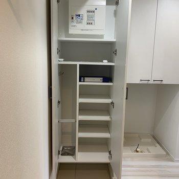 可動棚で、いろいろな種類に対応できます。※写真は4階同間取り別部屋のものです