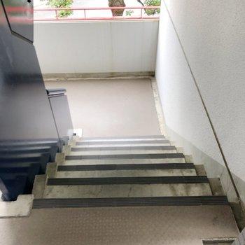 階段を使います