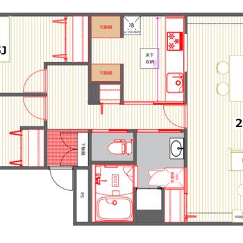 【パントリーありプラン】キッチンが独立していて、収納に便利なパントリーが設置されます!