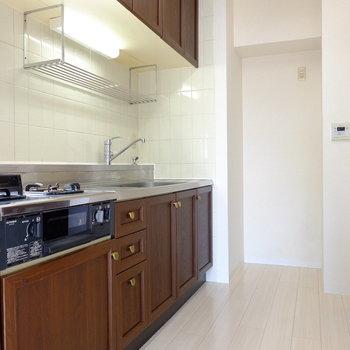 キッチンスペースは個室感