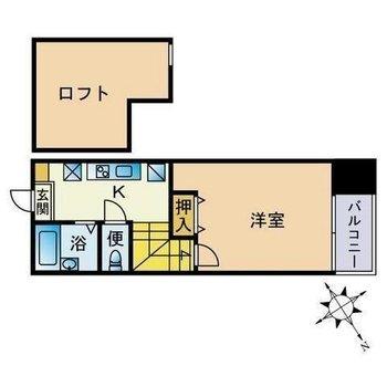 水回りは1階にね。ひとり暮らしにぴったりな間取り。