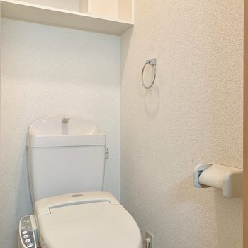 トイレはしっかりウォシュレットつき。(※写真は清掃前のものです)