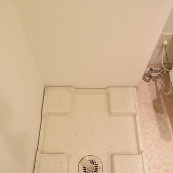 洗濯機はトイレの横に