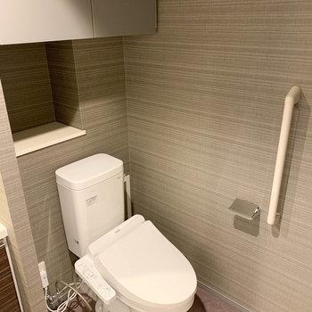 脱衣所右にはトイレが。※写真は前回募集時のものです