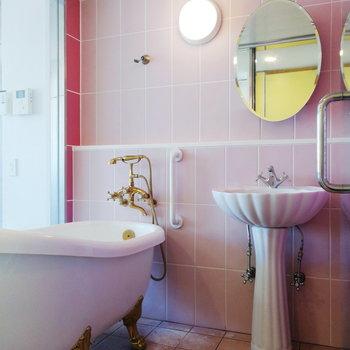 メルヘンお風呂……!※写真は3階の同間取り別部屋のものです
