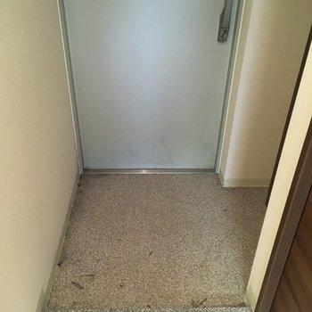 玄関はちょうどいいくらいのサイズ感(※写真は清掃前のものです)