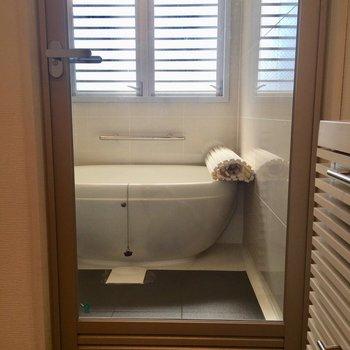 うれしはずかしスケルトンのお風呂です