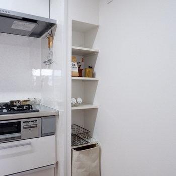 【LDK】こちらも収納に使えます。※家具はサンプルです