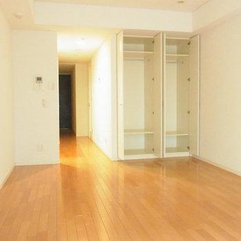 こっちにもたっぷり収納※写真は2階の反転間取り別部屋のものです