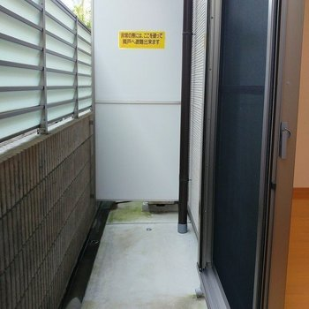 洗濯物が高い位置に干せ、床につく心配なし! ※写真は2階の似た間取り別部屋のものです