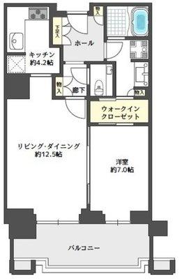 グランフロント大阪オーナーズタワー1012号室の間取り