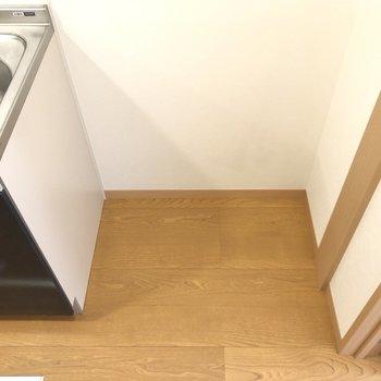 冷蔵庫置き場も広く確保されています。