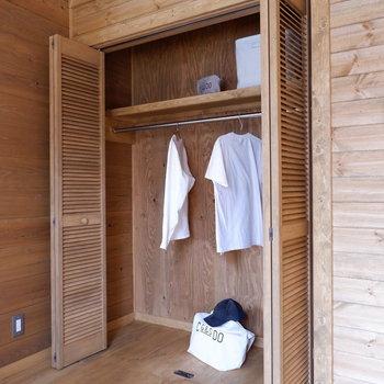 【洋室①】クローゼットもしっかりと。※家具はサンプルです