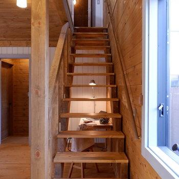 それでは2階へ。※家具はサンプルです