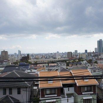 雲っていますが、神戸の街を一望!