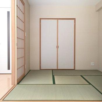 和室には押入れ収納がありました。(※写真は3階の同間取り別部屋のものです)