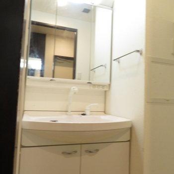 3面鏡ですね※写真は2階の同間取り別部屋のものです