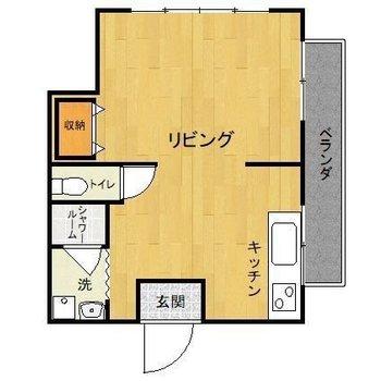 水回りがコンパクトなぶん、居室が広いんです。