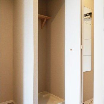 キッチン、冷蔵庫、洗濯機の導線※写真は同間取り別部屋のもの