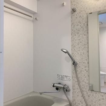 浴室乾燥はマストですよね〜※写真は4階の反転間取り別部屋のものです