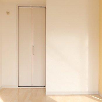 クローゼットの扉が小さいなぁ・・と思いきや!※写真は2階同間取り別部屋のものです