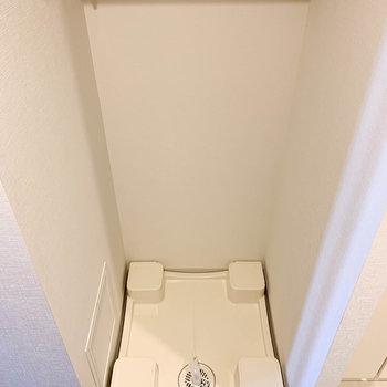 洗濯機置き場が。※写真は7階の同間取り別部屋のものです