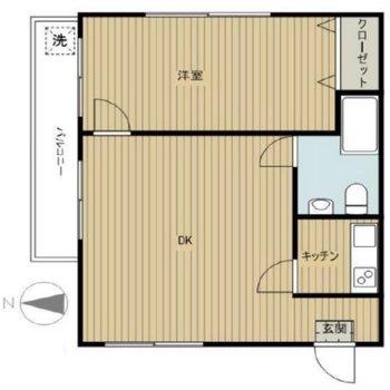 居室スペースが広く使えそうですね。