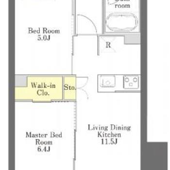 洋室との仕切りはスライド扉に。