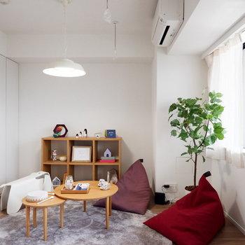 北欧風の家具がよく合います。※家具はサンプルです