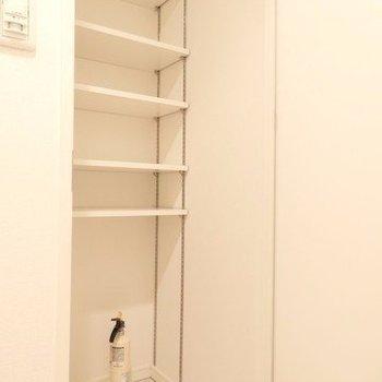シューズボックスも充実。※写真は4階の反転間取り別部屋のものです