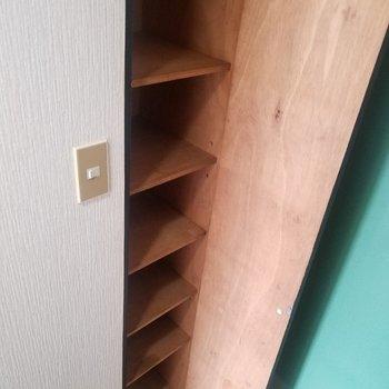 靴箱はスリムサイズ!※写真は3階の同間取り別部屋のものです