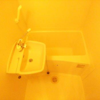 お風呂場は2点ユニット式です。