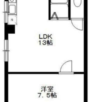 長方形型の1LDKです。