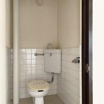 トイレもタイル調のデザインに。※写真は前回募集時のものです