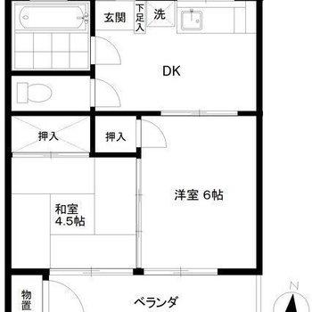 和室もある2DKのお部屋。