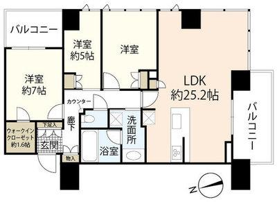 ザ・パークハウス広島タワー の間取り