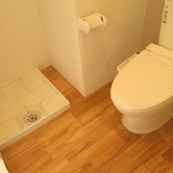トイレと脱衣所は同居※写真は2階の同間取り別部屋のものです