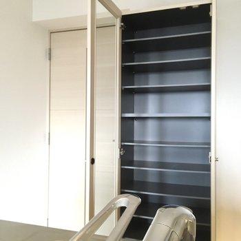 この棚は食器棚として使えそうです。